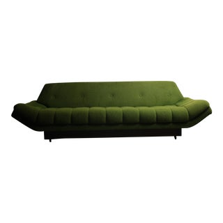 Mid-Century Tufted Gondola Sofa