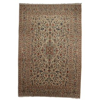 RugsinDallas Hand Knotted Wool Persian Kashan Rug - 9′5″ × 13′7″