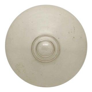 White Bulls Eye Globe Celling Fixture