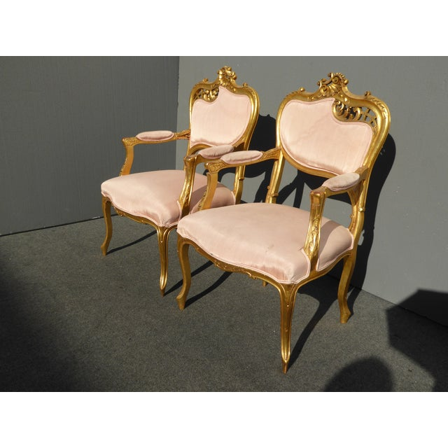 Vintage French Rococo Louis Xv Style Giltwood Accent