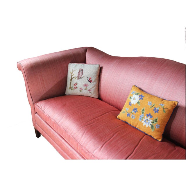 Antique Chippendale Silk Down Sofa - Image 3 of 11