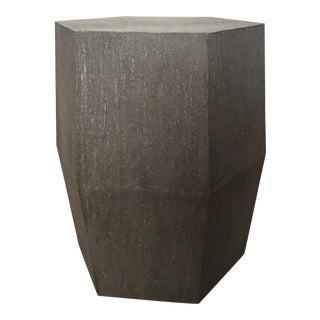 Hexagonal Gray Accent Table