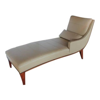 Modern Leather Chaise Lounge by Widdicomb