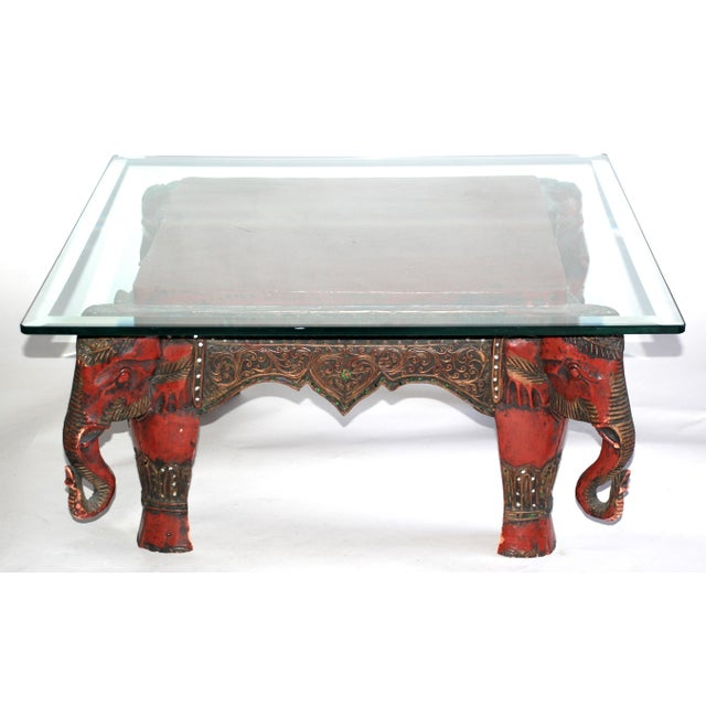 Vintage lacquer elephant coffee table chairish Elephant coffee table