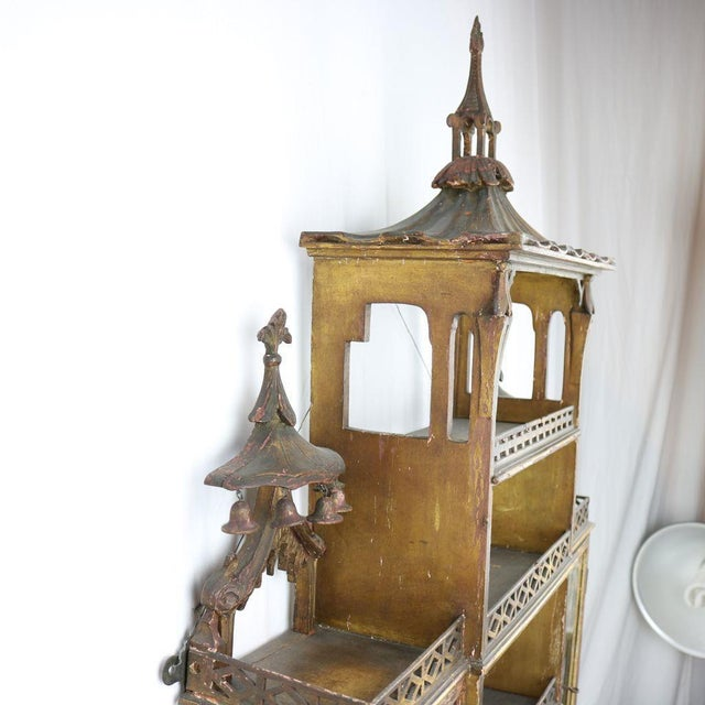 Chinese Chippendale Hanging Pagoda Wall Shelf - Image 9 of 11