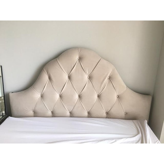 Image of Queen Tufted Headboard in Wheat