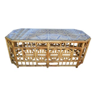 Bamboo Chinoiserie Coffee Table