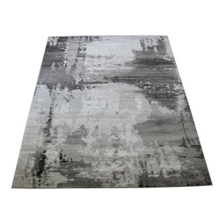 "Modern Gray Abstract Rug - 6'7""x 9'7"""