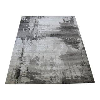 """Modern Gray Abstract Rug - 6'7""""x 9'7"""""""