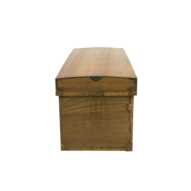 Monumental Early 20th Century Japanese Wood Trunk - Image 3 of 3