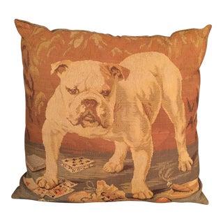 Vintage English Bulldog Throw Pillow