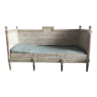 Antique Gustavian Wooden Daybed
