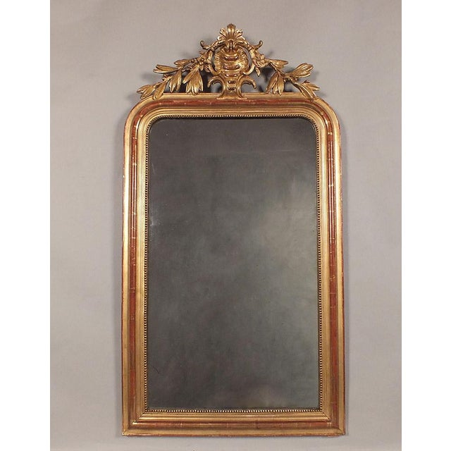 Antique French Louis XVI Giltwood Mirror - Image 2 of 9
