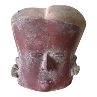 Vintage Peruvian Clay Mask