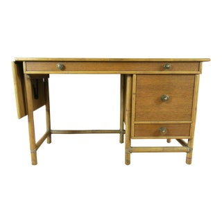 McGuire Bamboo Drop-Leaf Desk