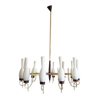 1950s 12-Light Italian Chandelier