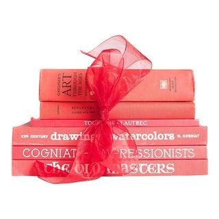 Red Matte Art Book Gift Set - S/6