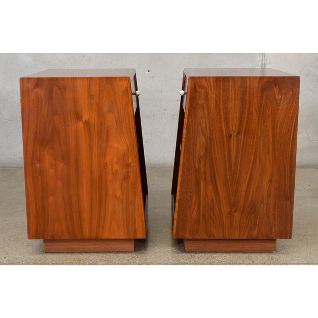Drexel Declaration Walnut Nightstands- A Pair - Image 4 of 7