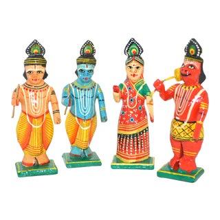 Indian Ramayana Wood Figures - Set of 4