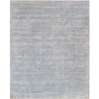 "Pasargad Transitional Bamboo Silk & Wool Area Rug - 8'1"" X 10'"