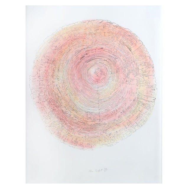 Alan Sonfist - Tree Trunk Series Pink 2 Litho - Image 1 of 2
