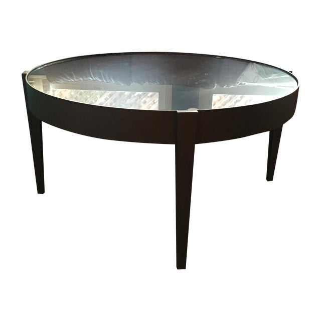 Crate & Barrel Round Metal Coffee Table - Image 1 of 5