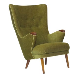 1950s Schiller Highback Danish Lounge Chair