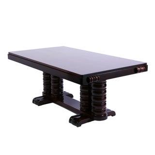 Art Deco Solid Mahogany Dining Table