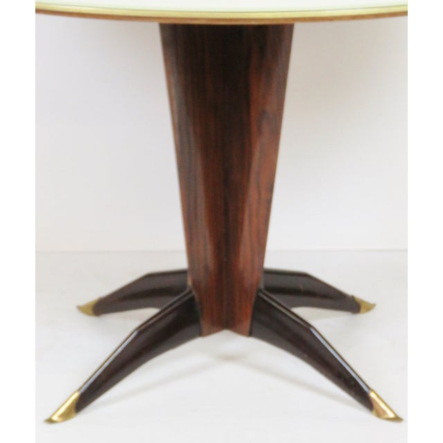 Image of Buffa-Style Rosewood & Glass Dining Table