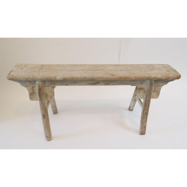 19th Century Oak Mortised Bench - Image 3 of 7