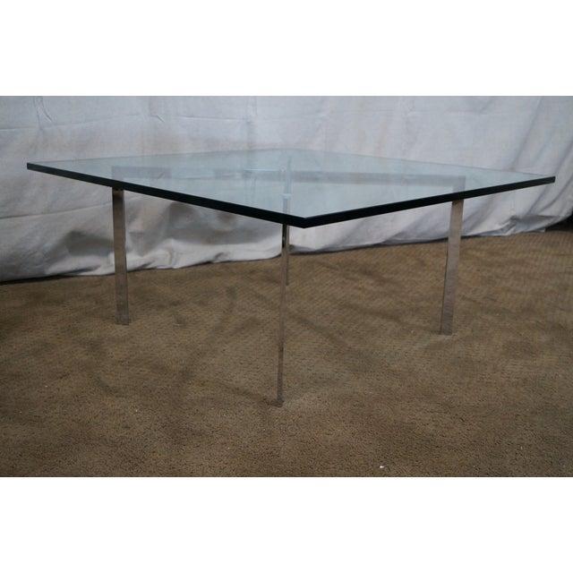 Chrome X Frame Coffee Table: Knoll Chrome Van Der Rohe Barcelona Coffee Table