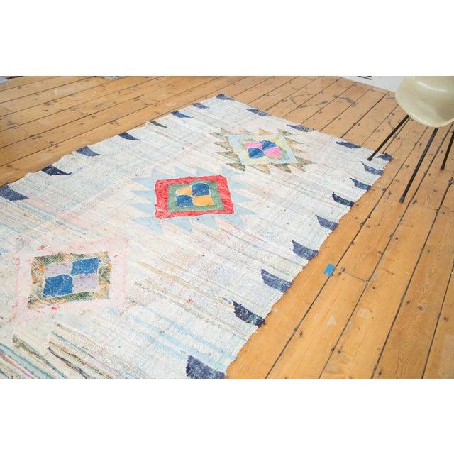 "Vintage Moroccan Rag Rug - 4'1"" X 8'6"" - Image 2 of 8"