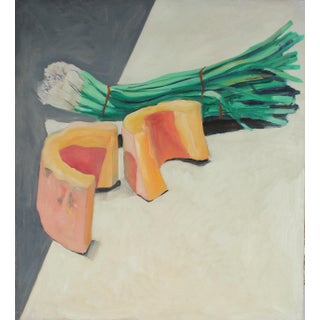 Still life with Melon & Onions by Jack Freeman