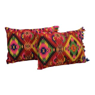 Vintage Turkish Kilim Rug Pillow Covers- A Pair