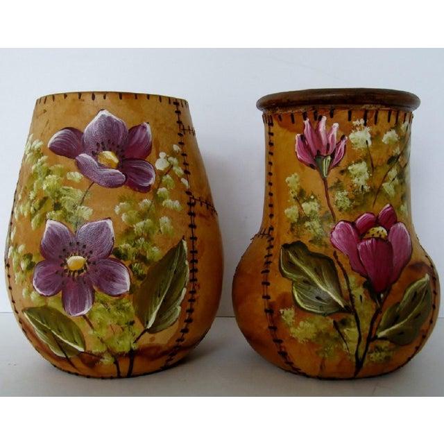 Brazilian Artisan Vases - A Pair - Image 2 of 6
