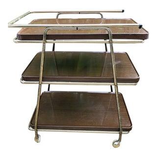 Mid-Century Metal Tea Cart