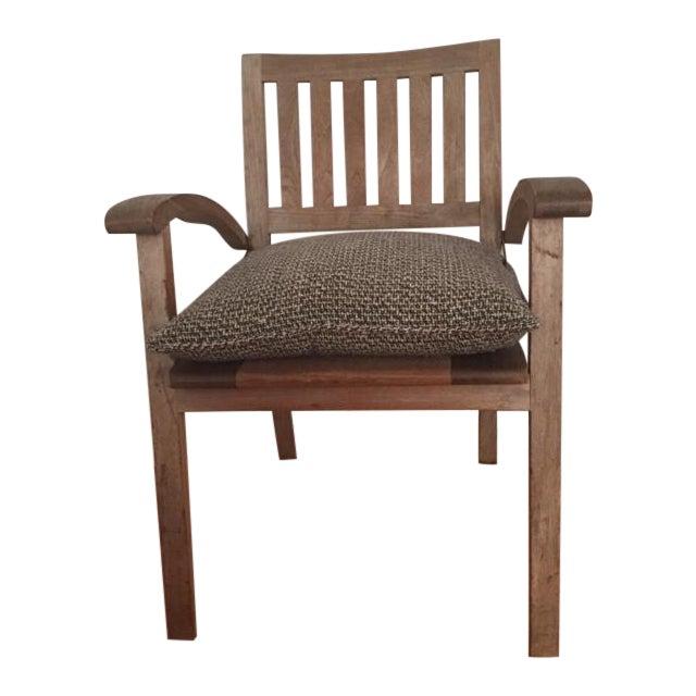 Summit Weathered Teak Armchairs - Set of 3 - Image 1 of 8