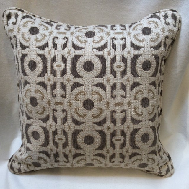 Cream & Brown Custom Pillow - Image 2 of 8