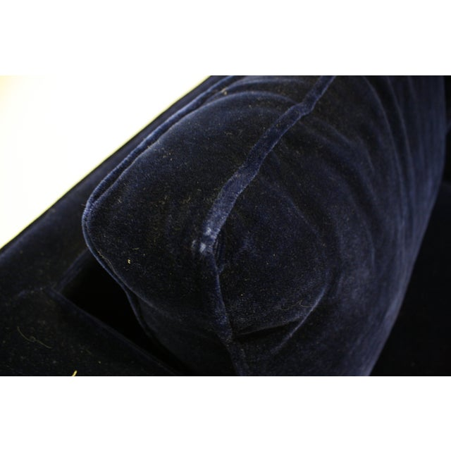 Ward Bennett Sofa in Navy Blue Mohair by Brickell - Image 6 of 7