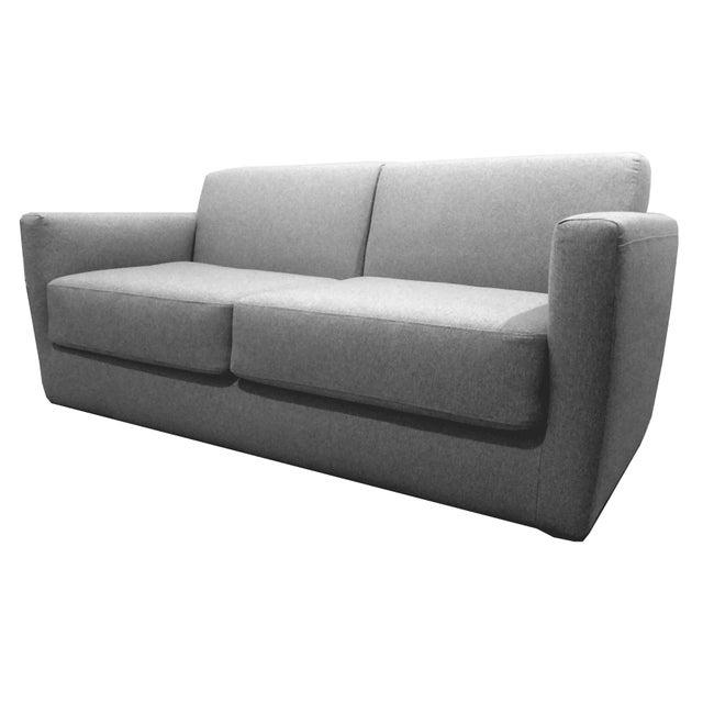 Modern Charcoal Sleeper Sofa - Image 1 of 4