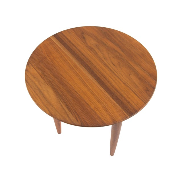 Image of Solid Walnut Round Side Table by Prelude