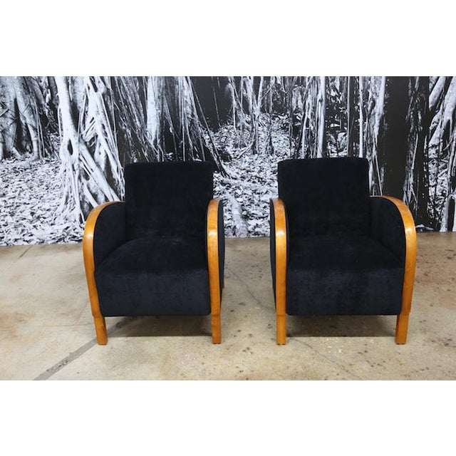 Scandinavian Art Deco Club Chairs- A Pair - Image 2 of 5