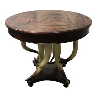 New Loggia Faux Horn Base Occasional Table