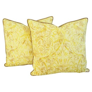 Custom Italian Fortuny Uccelli Pillows - a Pair