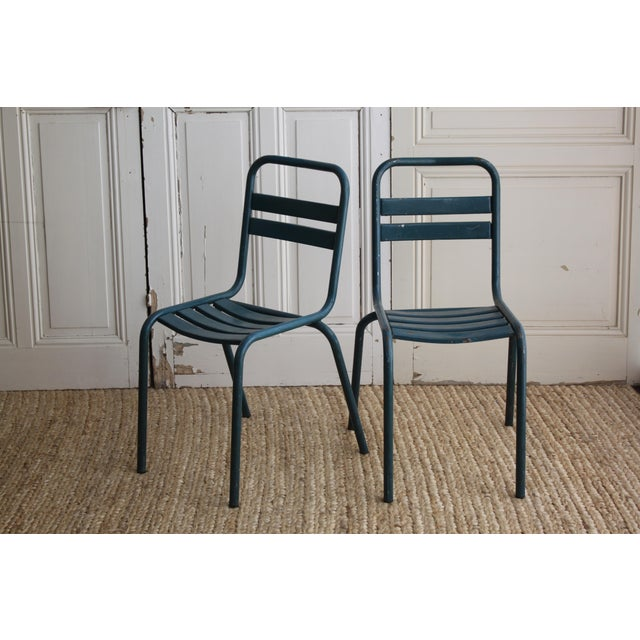 Vintage French Bistro Chairs - Image 3 of 7