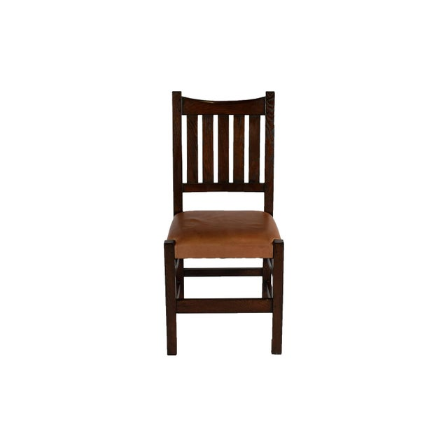 Mission Limbert Style Dining Chairs - 8 - Image 3 of 5