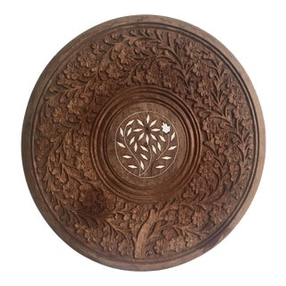 Sandalwood Inlaid & Carved Bohemian Decor Tray