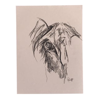 Horse Original Artwork Charcoal Ink on Paper