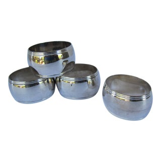 Traditional Silver-Plate Napkin Rings - 4 Pieces