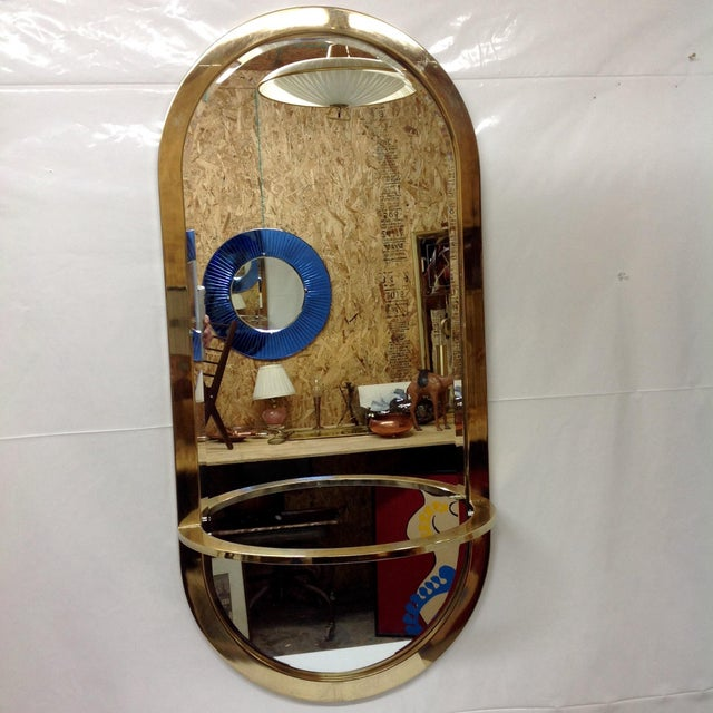Image of Milo Baughman DIA Brass Console Mirror